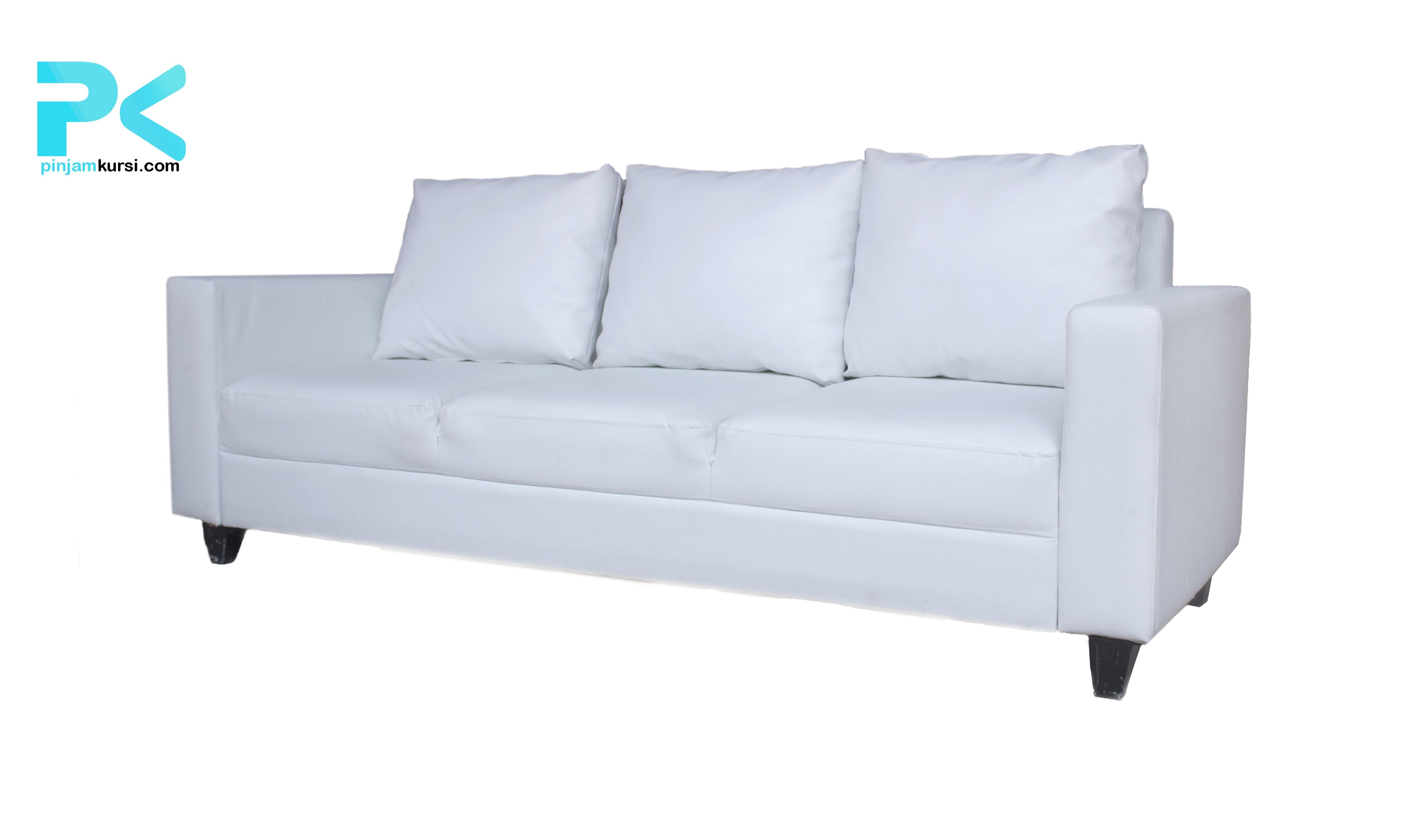 sewa sofa vip 3 seat warna putih