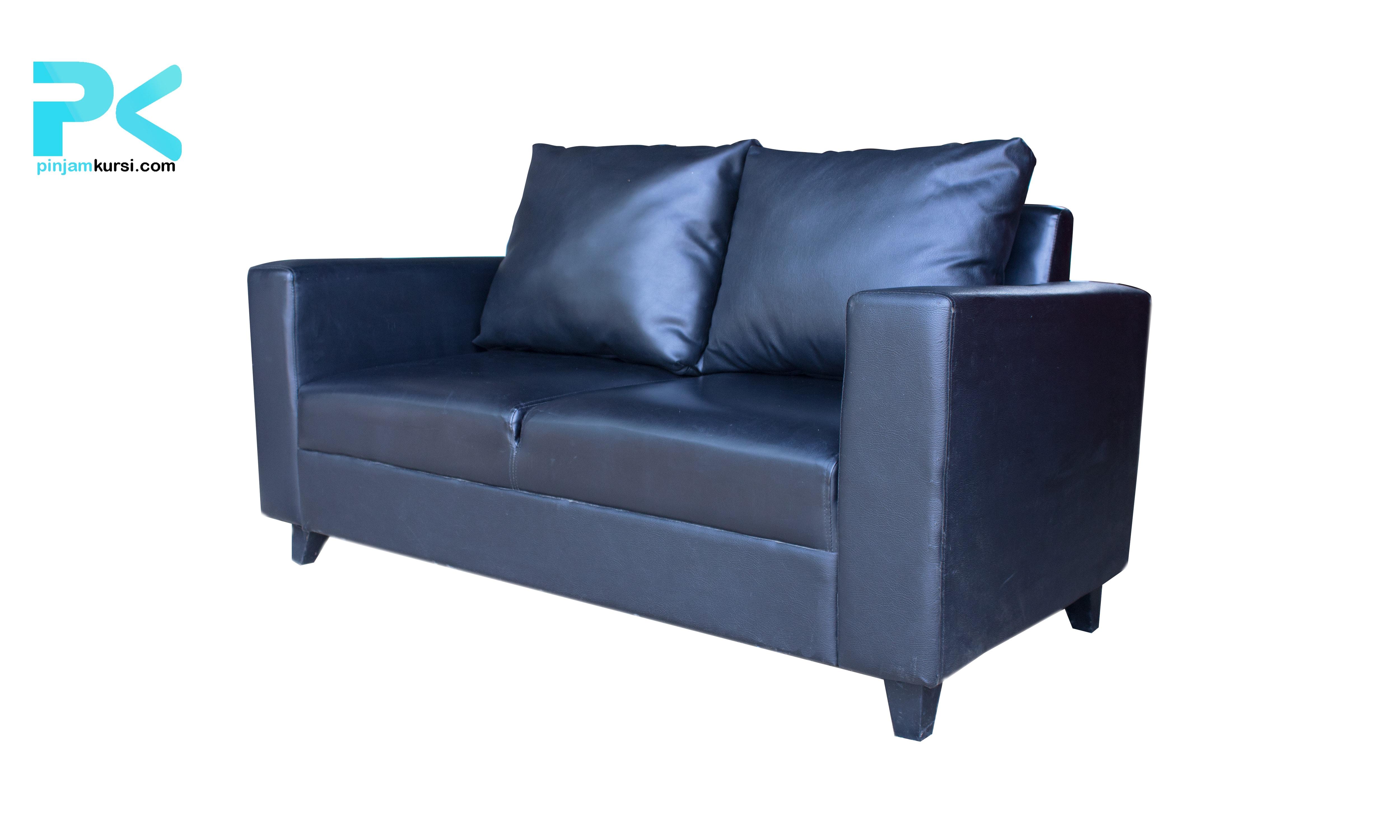 sewa sofa vip dua seat warna hitam
