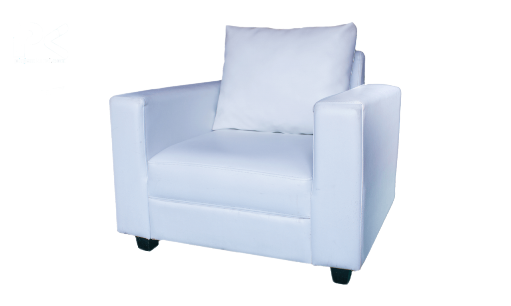 sewa sofa vip putih