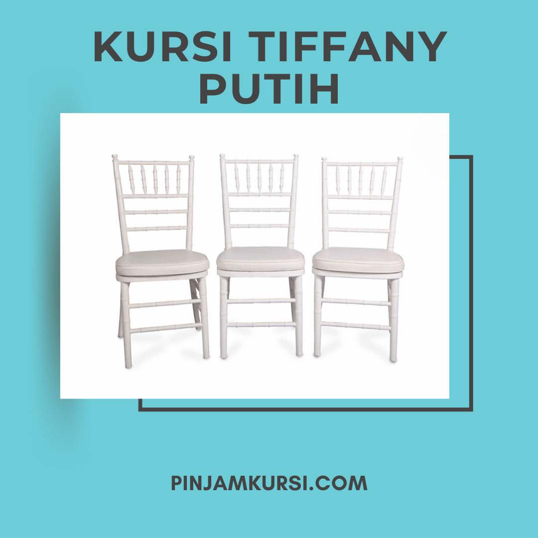 sewa kursi tiffany putih