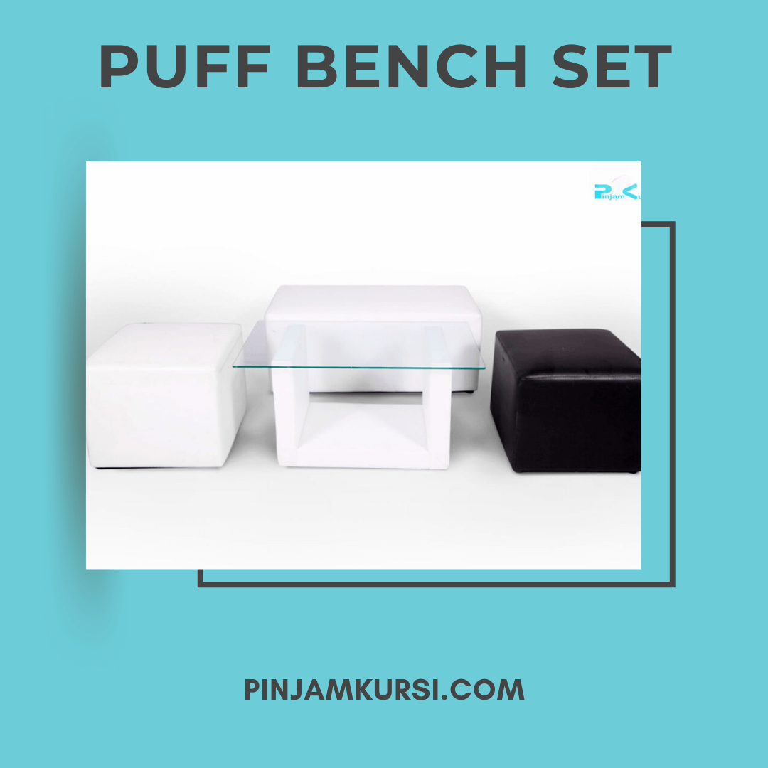 sewa puff bench set