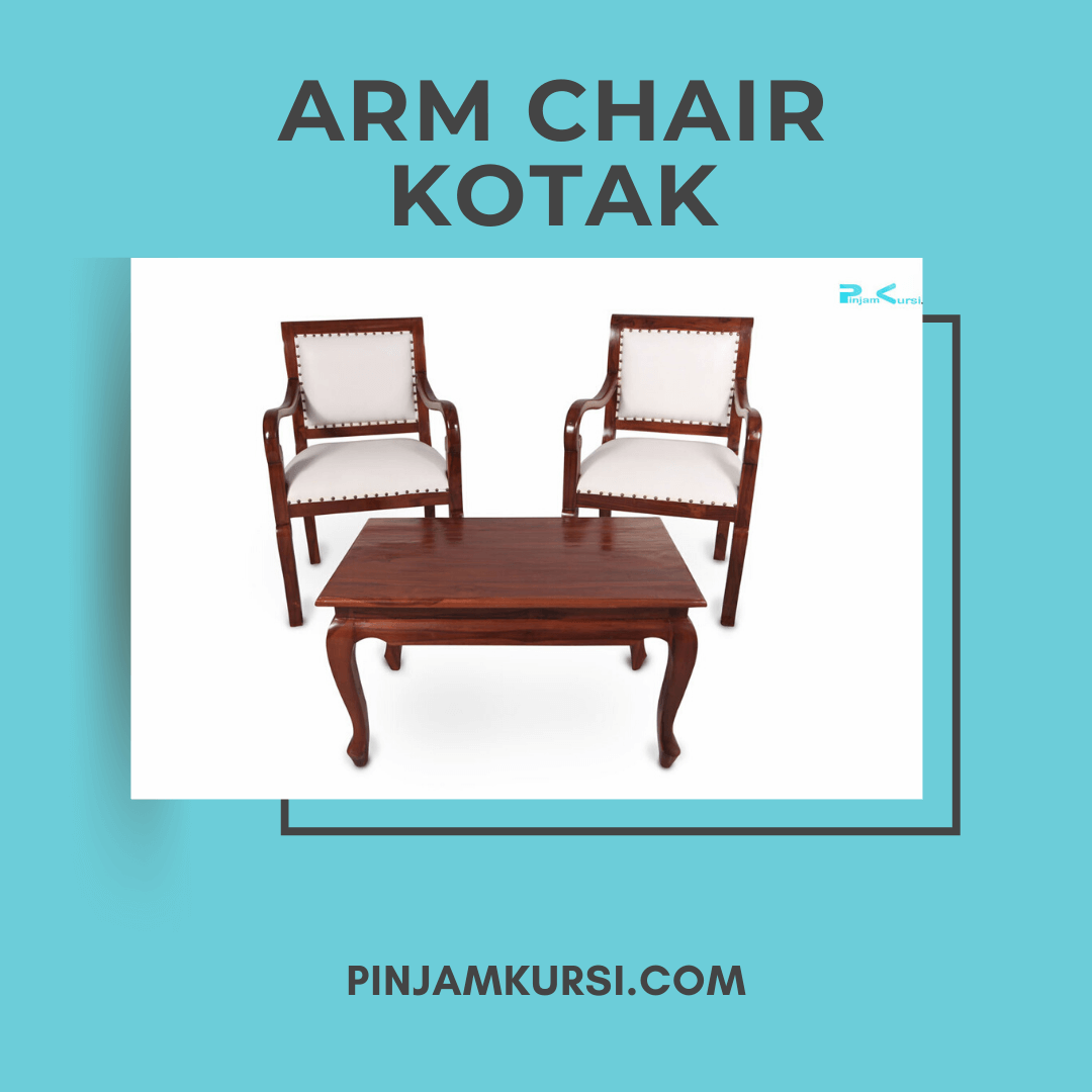 sewa kursi jati arm chair kotak