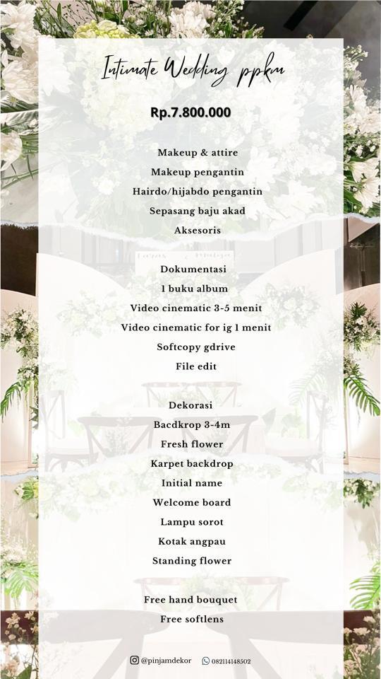 paket intimate wedding